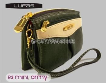 dompet lufas mini R3 hijauarmy 6