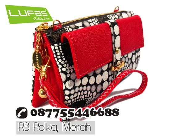 dompet lufas polkadot R3 merah 9
