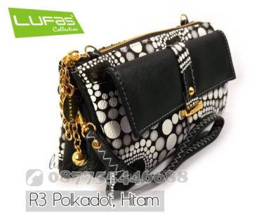 dompet lufas R3 polka hitam 9