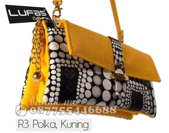 dompet lufas R3 polka kuning 2