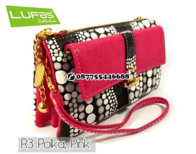 dompet lufas R3 polka pink 10