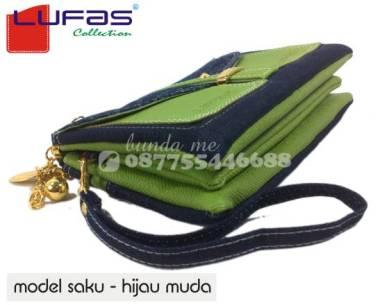 dompet lufas saku hijau muda 1