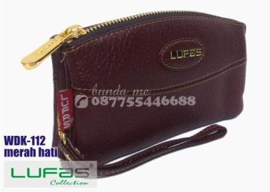 dompet kulit lufas wdk112 merah hati 2