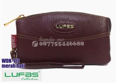 dompet kulit lufas wdk112 merah hati