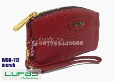 dompet kulit lufas wdk112 merah