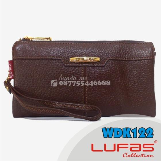 dompet lufas kulit WDK122 coklat tua 2