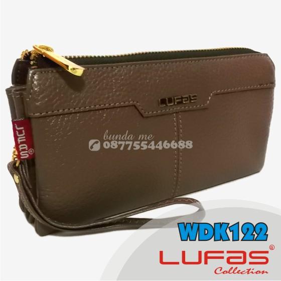 dompet lufas kulit WDK122 kopi susu