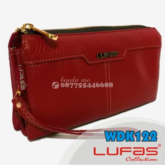 dompet lufas kulit WDK122 merah