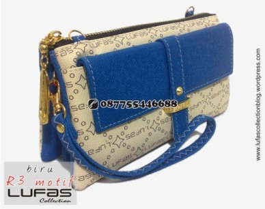 dompet lufas motif R3 biru