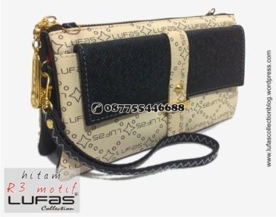 dompet lufas motif R3 hitam
