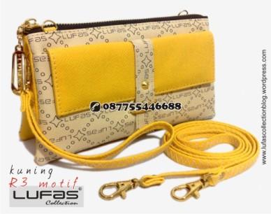 dompet lufas motif R3 kuning 1