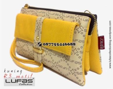 dompet lufas motif R3 kuning 2