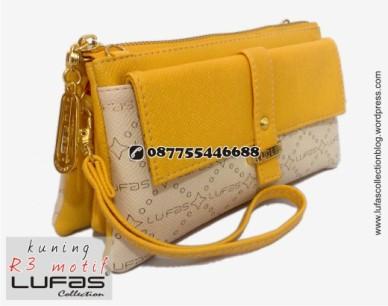 dompet lufas motif R3 kuning