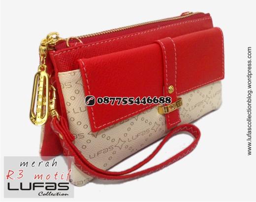 dompet lufas motif R3 merah