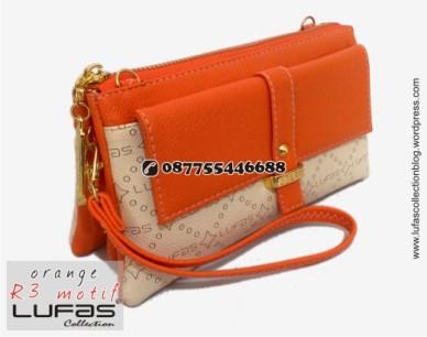 dompet lufas motif R3 orange