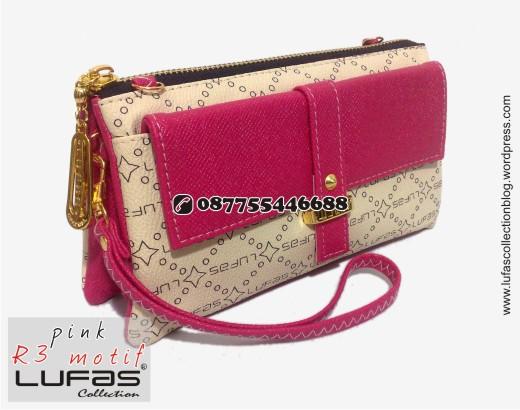 dompet lufas motif R3 pink