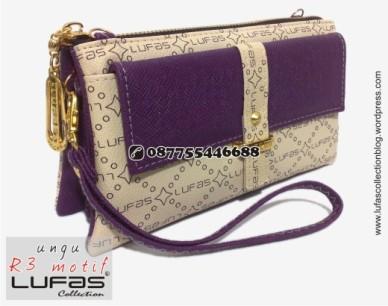 dompet lufas motif R3 ungu