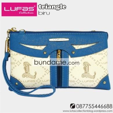 dompet lufas triangle biru