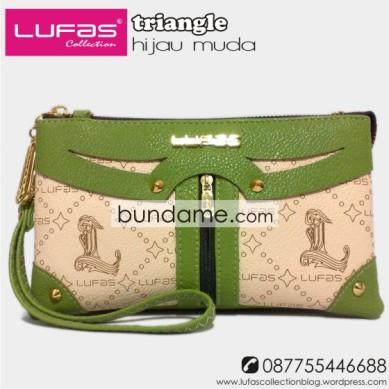dompet lufas triangle hijau muda