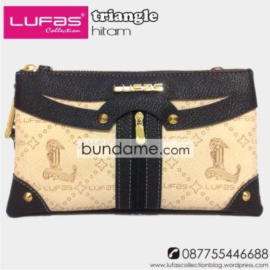 dompet lufas triangle hitam