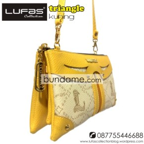 dompet lufas triangle kuning 1