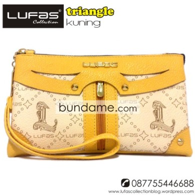 dompet lufas triangle kuning 10