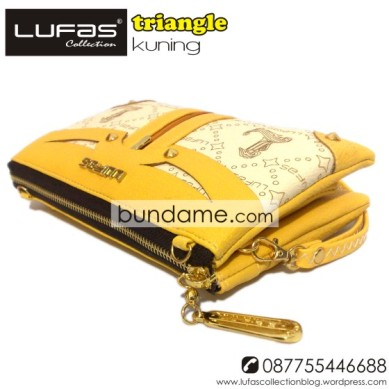 dompet lufas triangle kuning 2