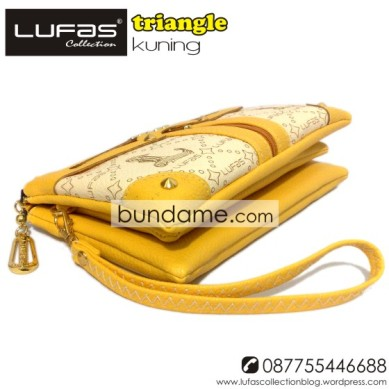 dompet lufas triangle kuning 3