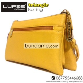 dompet lufas triangle kuning 4
