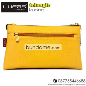 dompet lufas triangle kuning 5