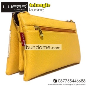 dompet lufas triangle kuning 6