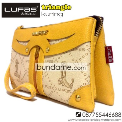 dompet lufas triangle kuning 7