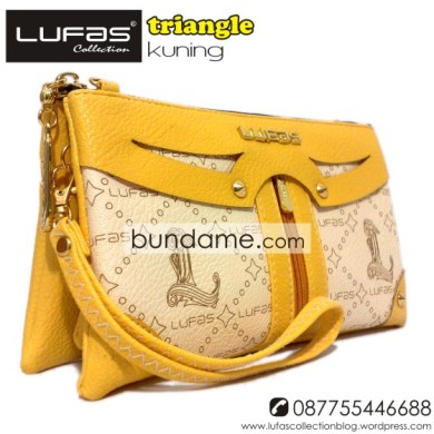 dompet lufas triangle kuning 8