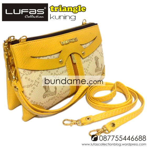 dompet lufas triangle kuning 9