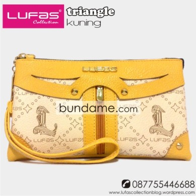 dompet lufas triangle kuning