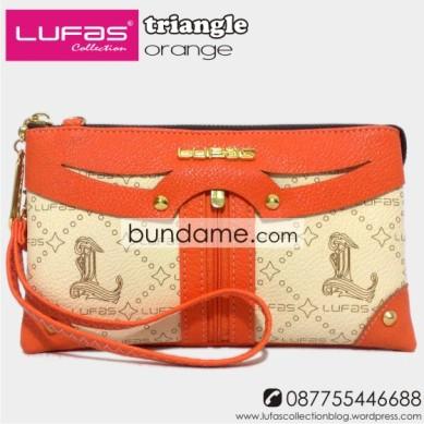 dompet lufas triangle orange