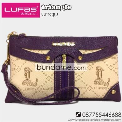 dompet lufas triangle ungu