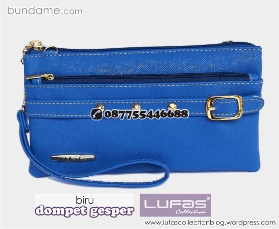 dompet gesper lufas biru 2
