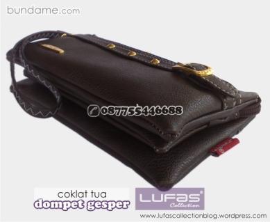 dompet gesper lufas coklat tua 2