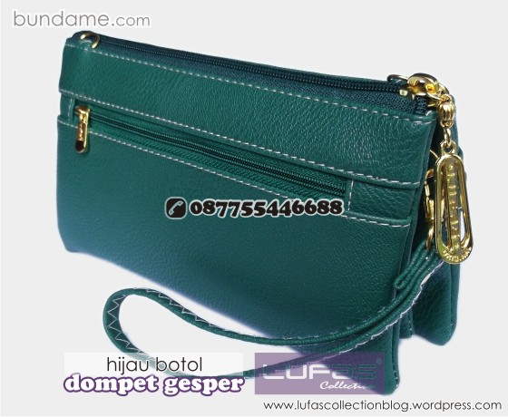 dompet gesper lufas hijau botol 1