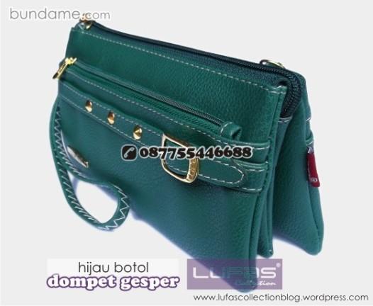 dompet gesper lufas hijau botol 2