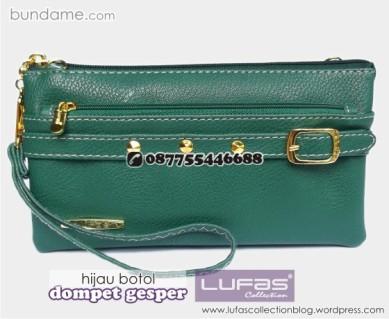 dompet gesper lufas hijau botol 3