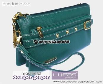 dompet gesper lufas hijau botol 4