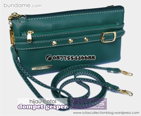 dompet gesper lufas hijau botol 5