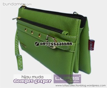 dompet gesper lufas hijau muda 1