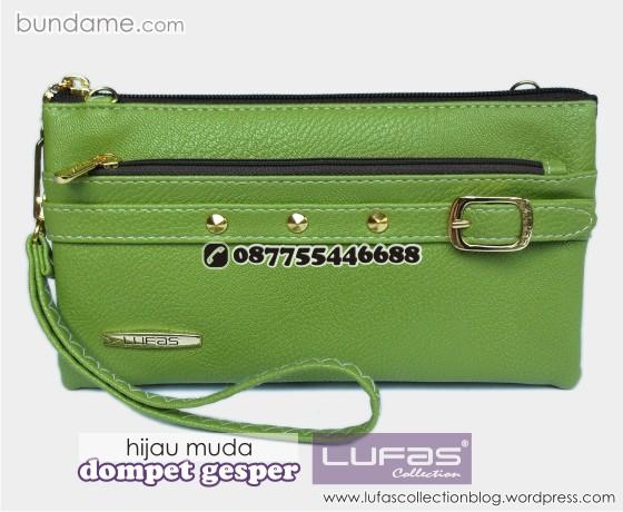 dompet gesper lufas hijau muda 2