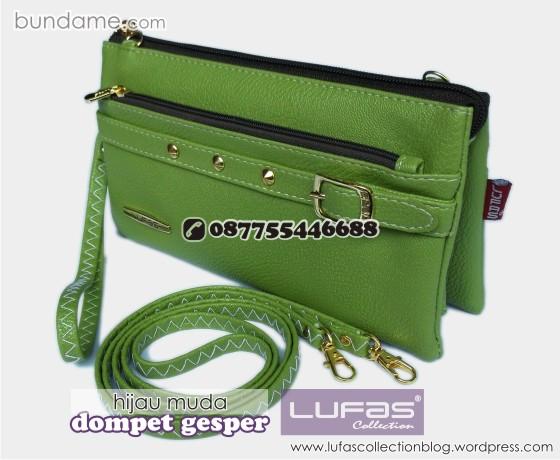 dompet gesper lufas hijau muda 3