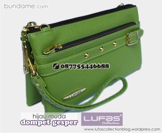 dompet gesper lufas hijau muda 4