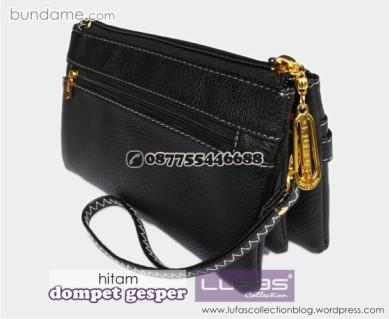 dompet gesper lufas hitam 1