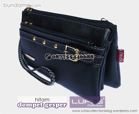 dompet gesper lufas hitam 2